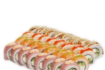 Радуга сет - Abokado. Бесплатная доставка суши премиум качества Позняки, Оболонь